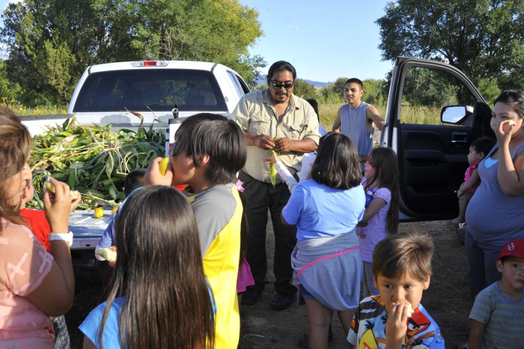 All food grown by the Nambé Community Gardens is given freely to the tribal community, including to after-school programs, instilling an appreciation for the sacredness of food and improving the health of the entire Pueblo.