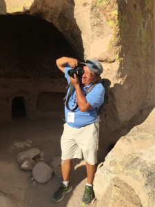 Shendo even snapped photos during this tour stop at the Puye Cliff Dwellings at Santa Clara Pueblo.