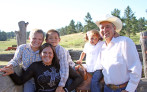 Rodeo mom and community development specialist Sharon Small (second from left) and her rodeo family