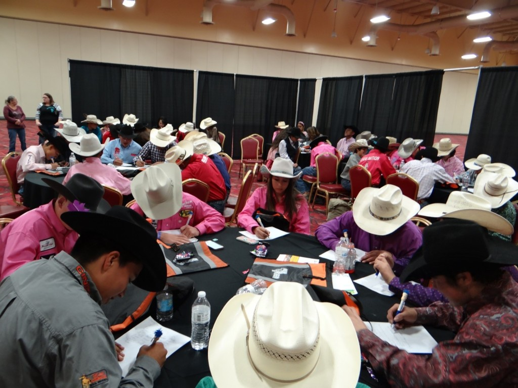 "Participants at ""Rodeo Bucks 101"""