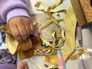 Moccasins made as part of the Pyramid Lake Paiute's Cultural Summer Day Camp