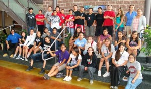 Financial literacy workshop participants at the Meskwaki Settlement School in July 2011