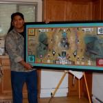 Filmer Kewanyama with his winning artwork
