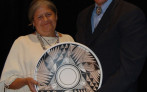 Marguerite with First Nations President & CEO Michael Roberts at the organization's 35th Anniversary celebration in 2015