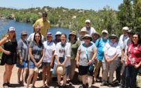 The tour group at Nambé Lake