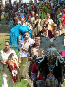 A scene from the Shinnecock Indian Powwow