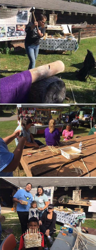As shown in this collage, art is being created with materials found on Menominee land
