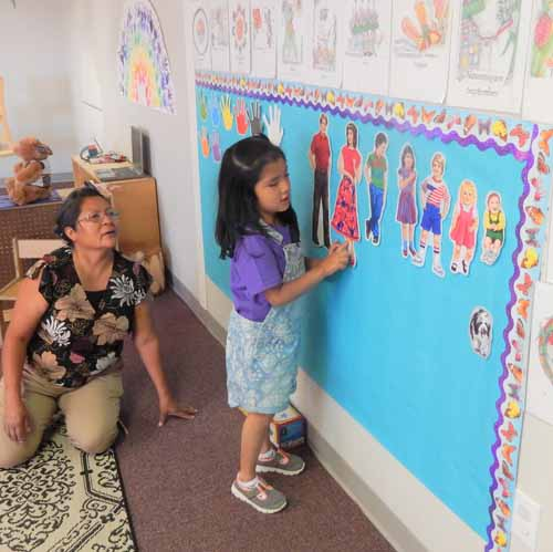 At The Hopi School, children are taught both the Hopi language and a Hopi curriculum.