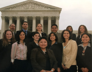 Monica during her first year with the Morris K. Udall Congressional Internship Program.