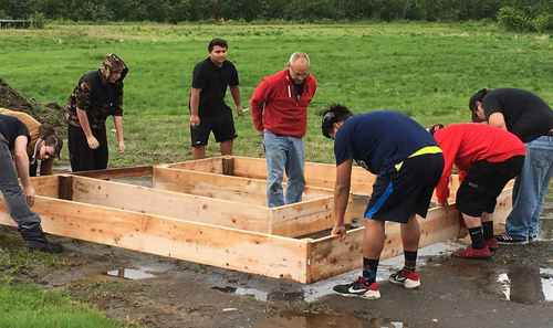 Fifty-seven volunteers, including 21 youth volunteers, devoted more than 350 hours to planting and harvesting two community gardens.