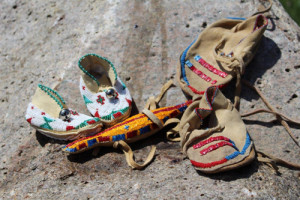 The art of moccasin-making illustrates how the Dakota made beautiful the things that were used.