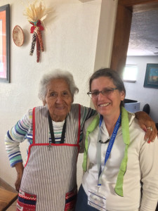 Wendy, right, with artist Maria Romero, a potter, during the First Nations Southwest Tour in 2017.