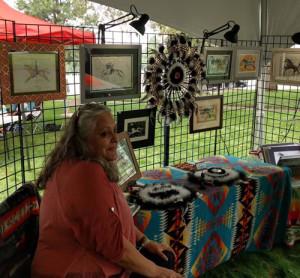 Cheryl Grunlose at the art show.