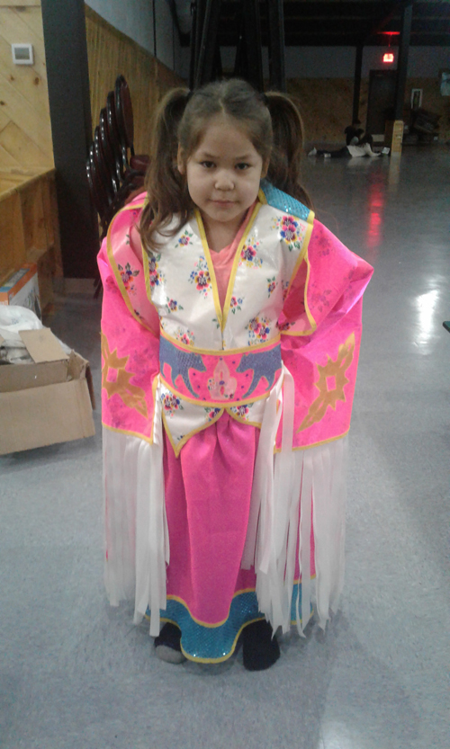 "Student Cheyenne Fish says, ""I always wanted a fancy regalia. Now, I can dance."""