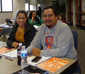 Miranda Marquez and James Reveles with the Cheyenne & Arapaho Tribes of Oklahoma.