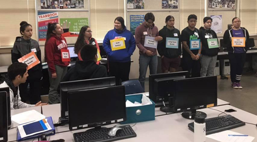 Lapwai High School seniors learn asset classes, risk and other investing concepts in November 2018.