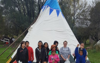 Kids learned how to set up a teepee. The Division of Indian Work has found that cultural instruction and recreational activities like this help reduce at-risk behavior.