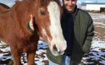 Now retired 100% government and military, PapaJoe has time to spend with his favorite horse, 32-year-old Zip.