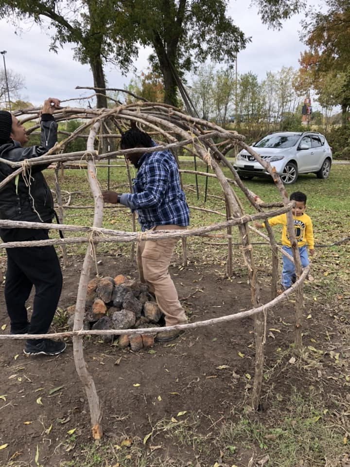 The tenets of physical wellness, Native American culture and spirituality come together as SONS participants build a sweat lodge.