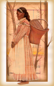 """Choctaw Woman with Ledger"""