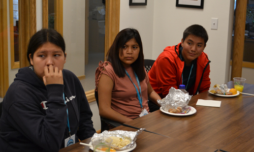 The youth learn about First Nations during their visit to Longmont.