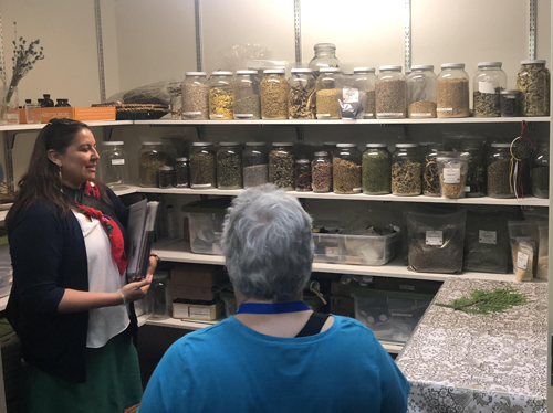Tour attendees learned much about traditional foods and medicines.