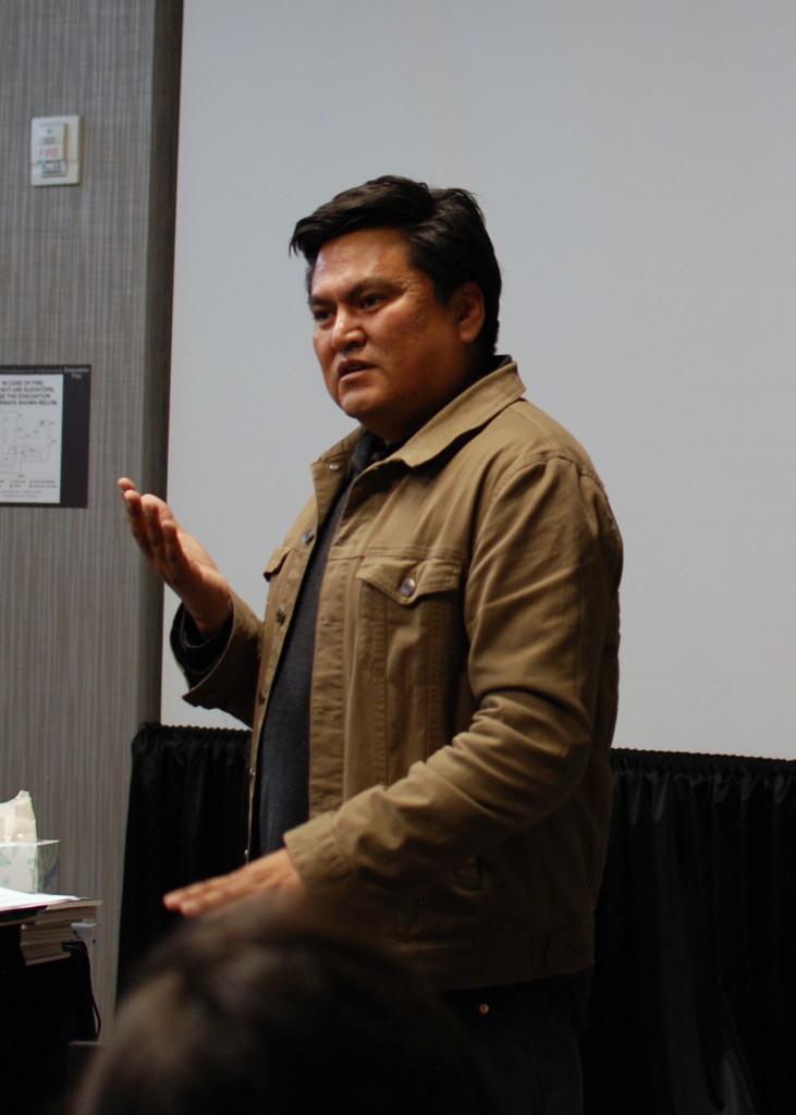 Sherwin Bitsui, Diné (Navajo) poet.